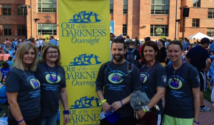Afsp Out Of The Darkness Overnight Walk T-Shirt Photo