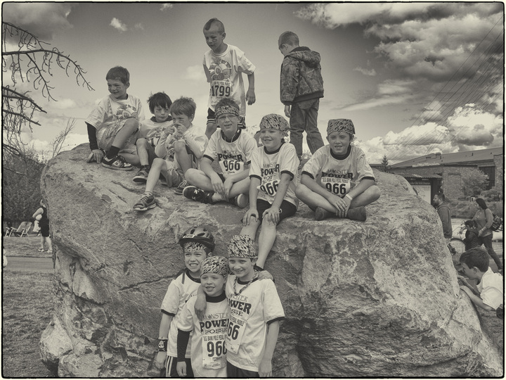Boys On A Rock T-Shirt Photo