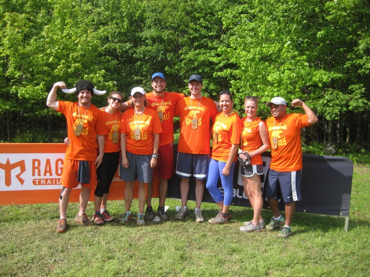 Team Gummi Bear Grylls   Run, Camp, Run, Sleep?, Run     Ragnar Trail T-Shirt Photo