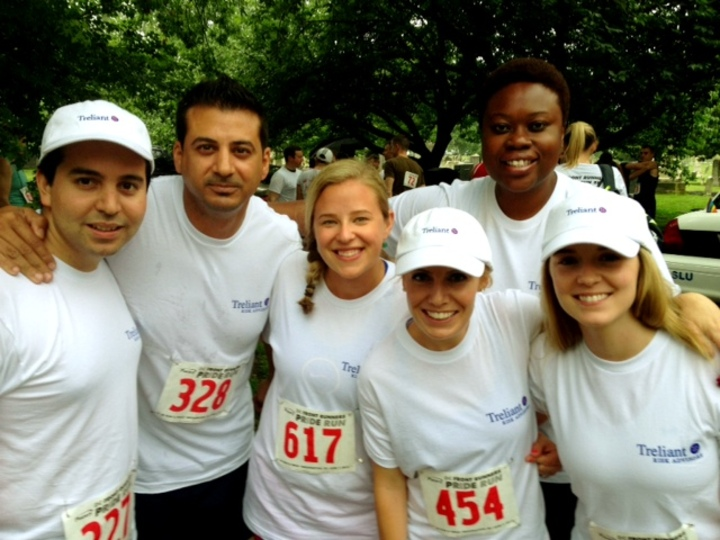 Treliant Risk Advisors At Dc Pride 5k T-Shirt Photo