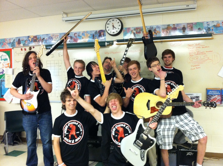 Guitar Club Rocks! T-Shirt Photo