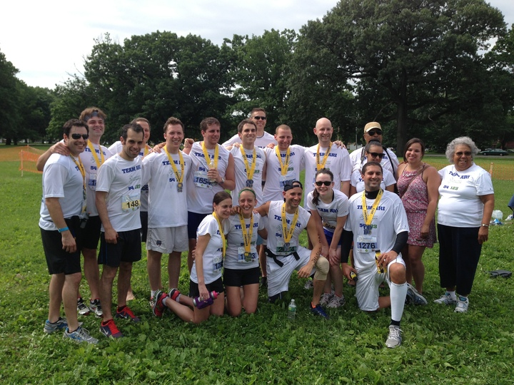 Team Ari Runs 13.1 Miles For Active Minds And Ari Johnson T-Shirt Photo