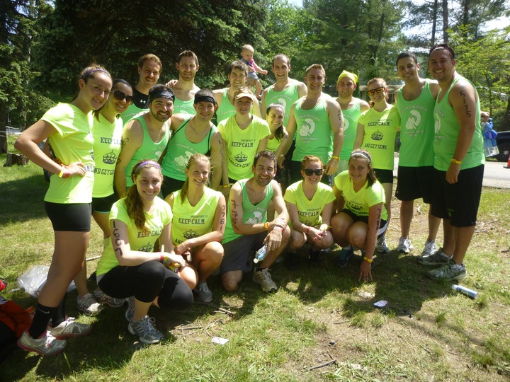 Team Thunder Buddies At The Ny Spartan Race! T-Shirt Photo