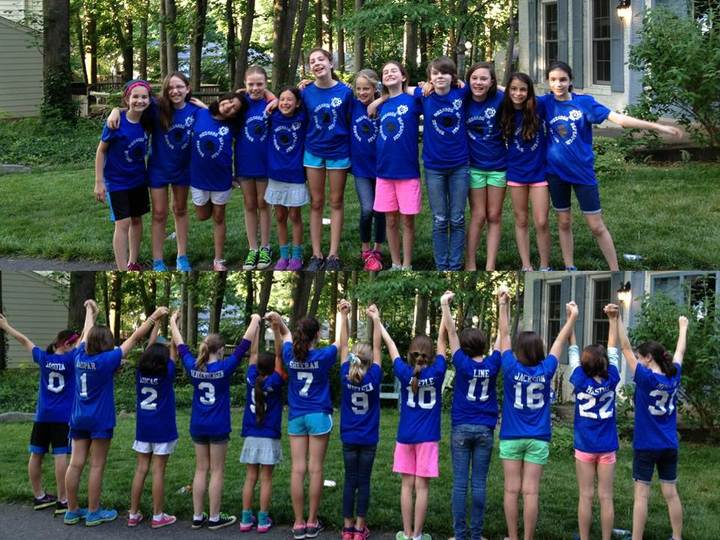 Zud Team Spirit (Happy Girls With Team Shirts) T-Shirt Photo