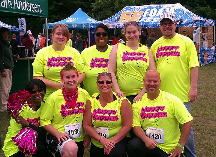 Muddy Buddies 5 K Foam Fest Team T-Shirt Photo