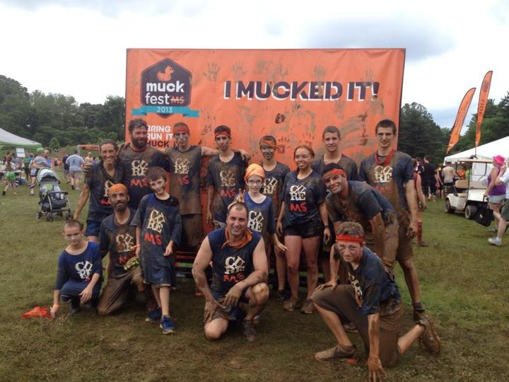Getting Down And Dirty For Ms At The Muck Fest Ms Philadelphia! T-Shirt Photo