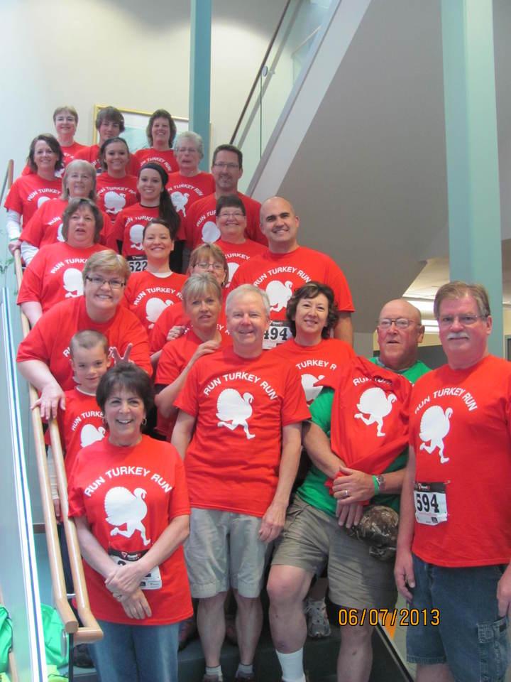 Run Turkey Run Against Cancer T-Shirt Photo