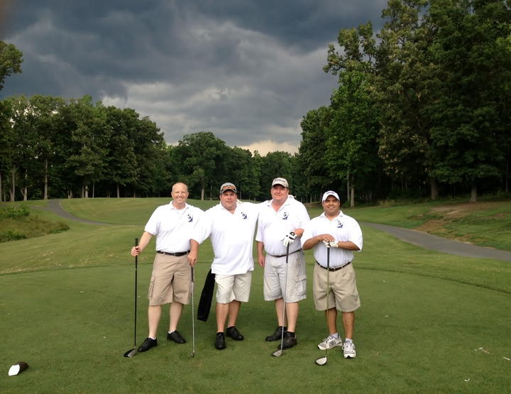 Human Touch   Enjoying Golf On A Blustery Day. T-Shirt Photo