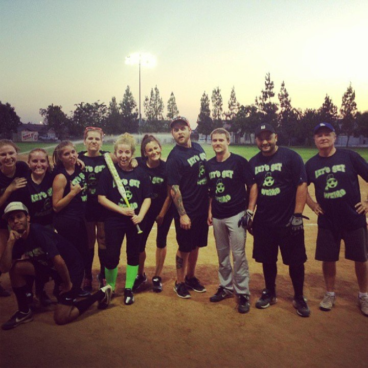 Let's Get Weird Softball Team T-Shirt Photo