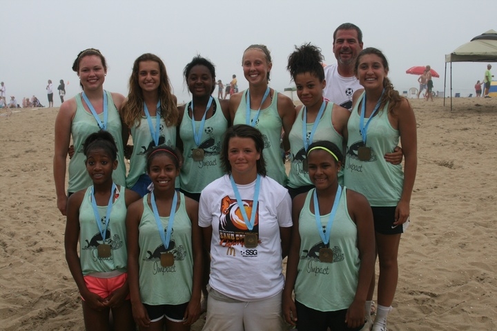 2013 U15 Girls National Sand Soccer Champions T-Shirt Photo