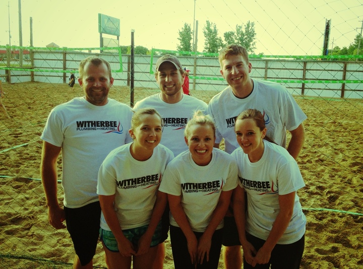 Advertising While Playing Beer League Volleyball! T-Shirt Photo