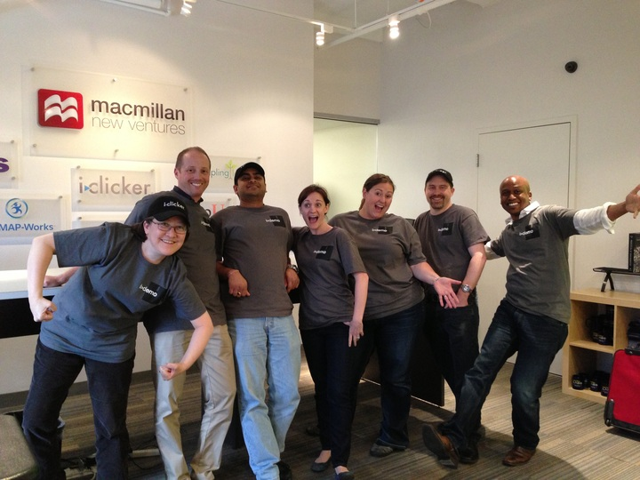 I>Clicker Team Wearing Their I>Demo Shirts For Agile Training T-Shirt Photo