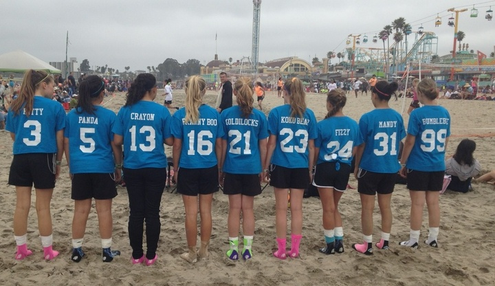 Black Mambas At Sand Soccer! T-Shirt Photo