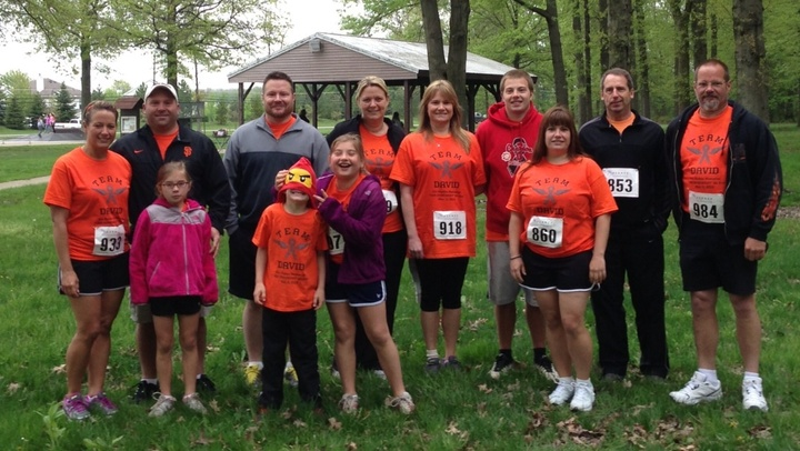 Sanborn Siblings And In Laws Running/Walking In Memory Of Our Deceased Brother (Brother In Law) David J. Sanborn T-Shirt Photo