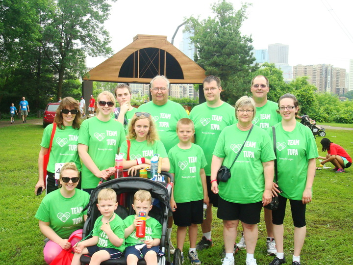 Our Team For The Children's Hospital Of Minnesota's Heartbeat 5k T-Shirt Photo