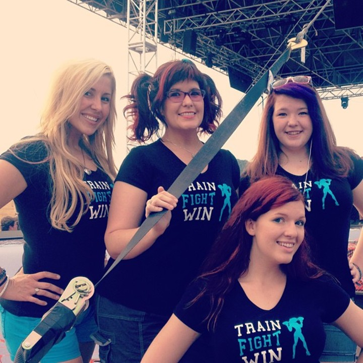 Fighter Girls In Our Fancy New Shirts! T-Shirt Photo