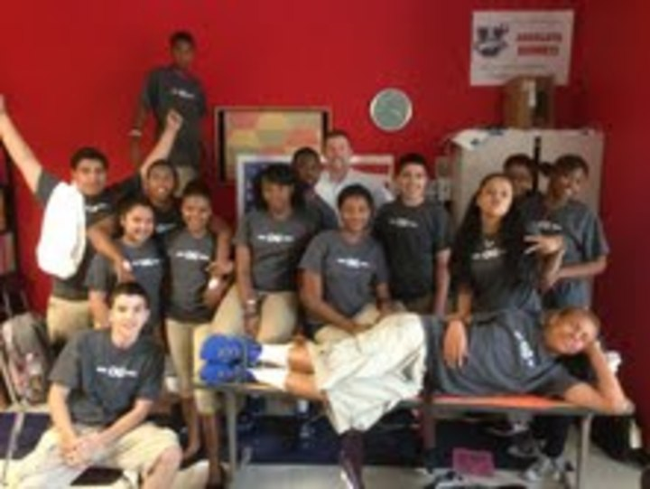 8th Graders At Orchard Gardens Celebrate The Last Day Of 8 Ga! T-Shirt Photo