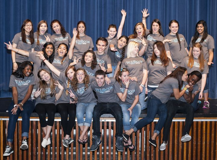 Bensalem High School Yearbook Staff 2013   Approaching Our Future!  T-Shirt Photo