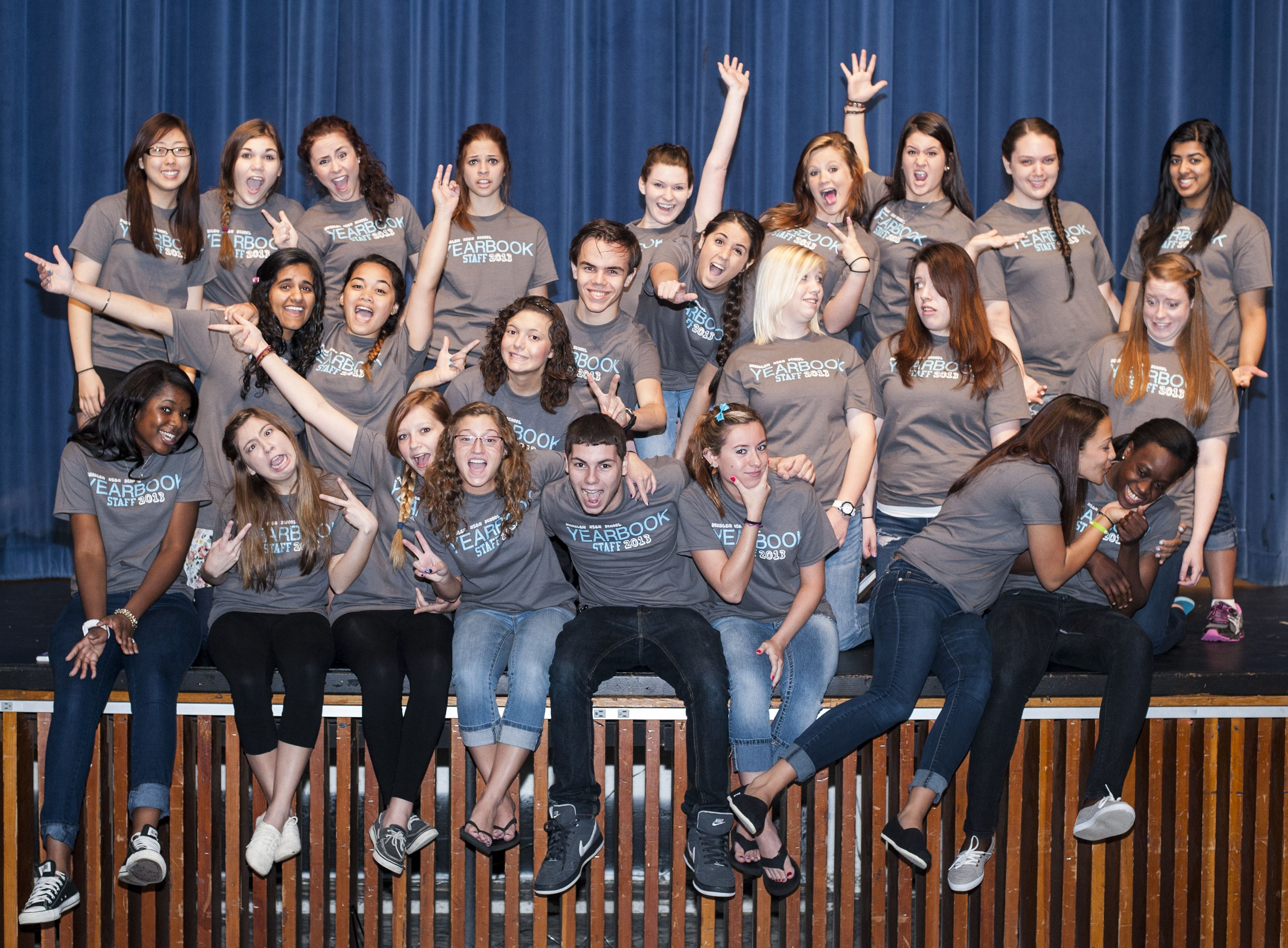 Bensalem High School Yearbook Staff 2013 Approaching Our Future T Shirt Photo