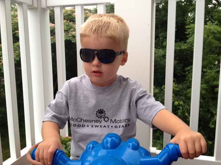 Mc Chesney Motor's Youngest Customer T-Shirt Photo