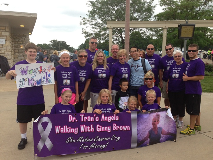 Dr Trans Angels Walking With Ginny Brown T-Shirt Photo