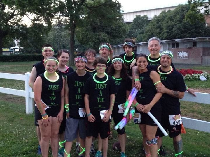 5 K Glow Run For Tourette Syndrome T-Shirt Photo