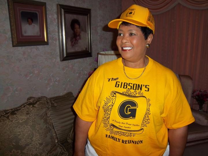 Gibson's Family Reunion Phyllis Gibson Arceneaux Shirt & Cap A.Jpg T-Shirt Photo
