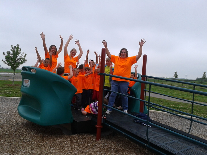 Woo Hoo.   Summer Time Fun In Our Bright Orange Tees.   T-Shirt Photo