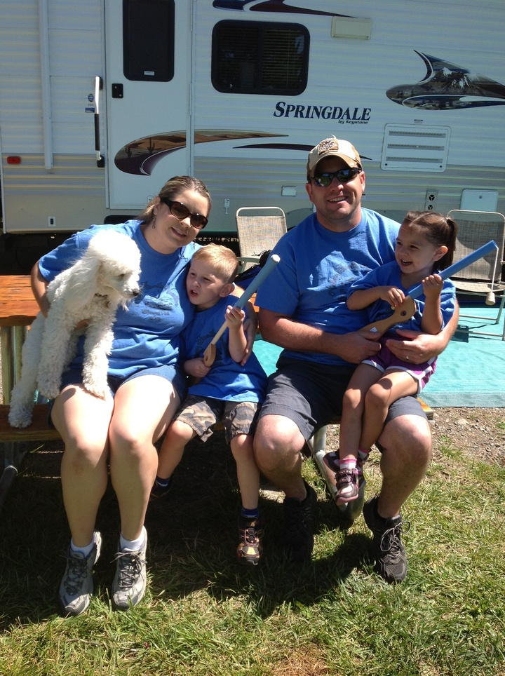 Camping At Silverwood T-Shirt Photo