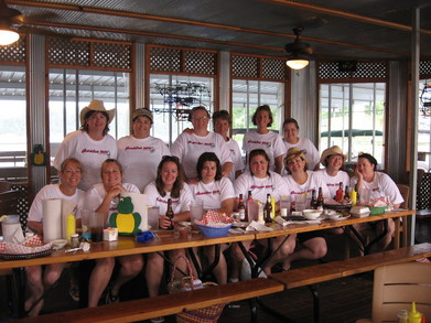 Looking Snazzy In Our T Shirts At The Dock N' Eat T-Shirt Photo