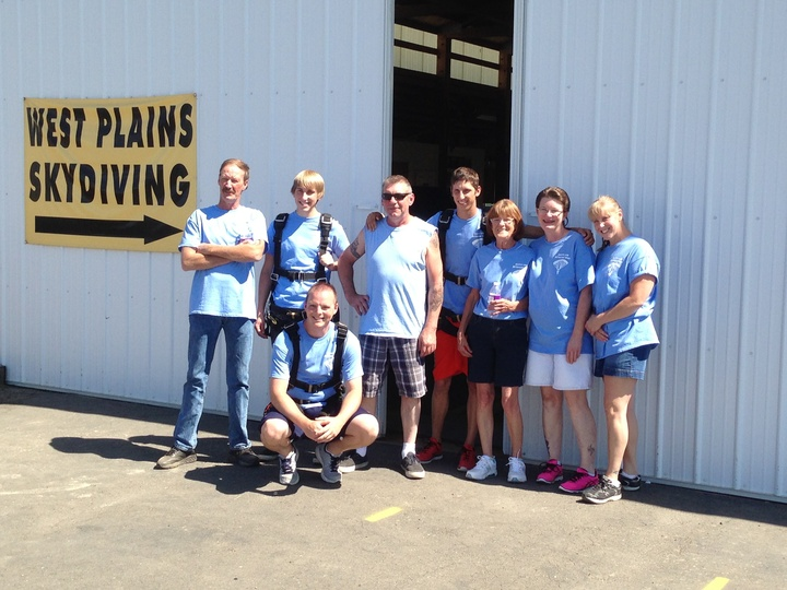 The Happy Time Bar Skydiving Team T-Shirt Photo
