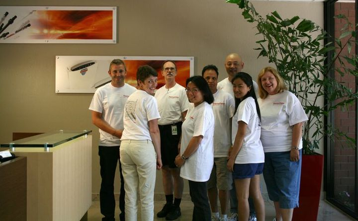 Thermo Fisher Scientific R&D Team Building Event T-Shirt Photo