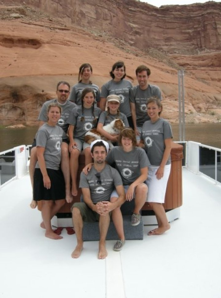 Jensen Family Reunion At Lake Powell T-Shirt Photo