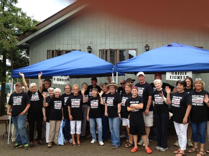 Canoe Race Volunteers Love Their Teeshirts T-Shirt Photo
