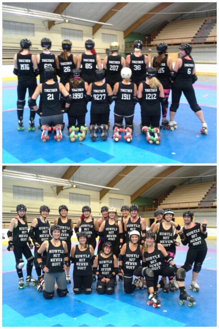 Hustle, Hit, Never Quit   Together!  T-Shirt Photo