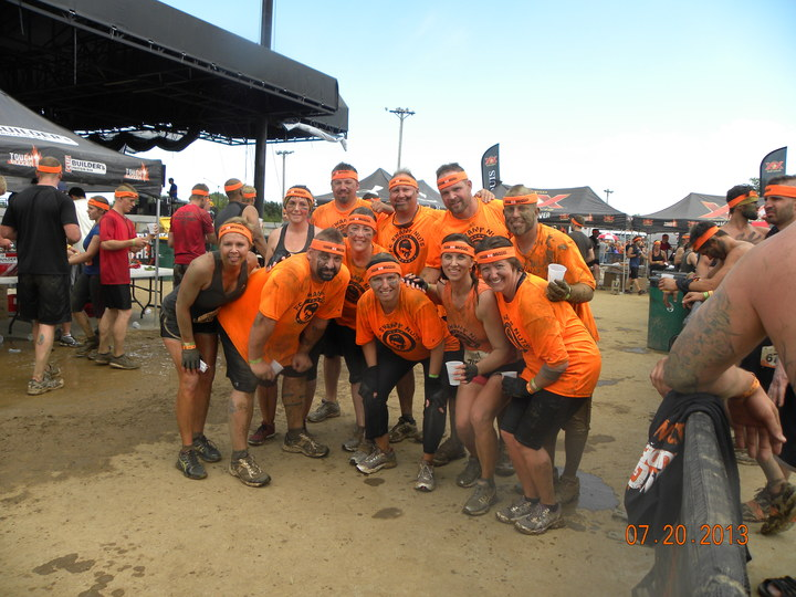 Team Fc Swamp Nuts Earned Their Tough Mudder Headbands! T-Shirt Photo