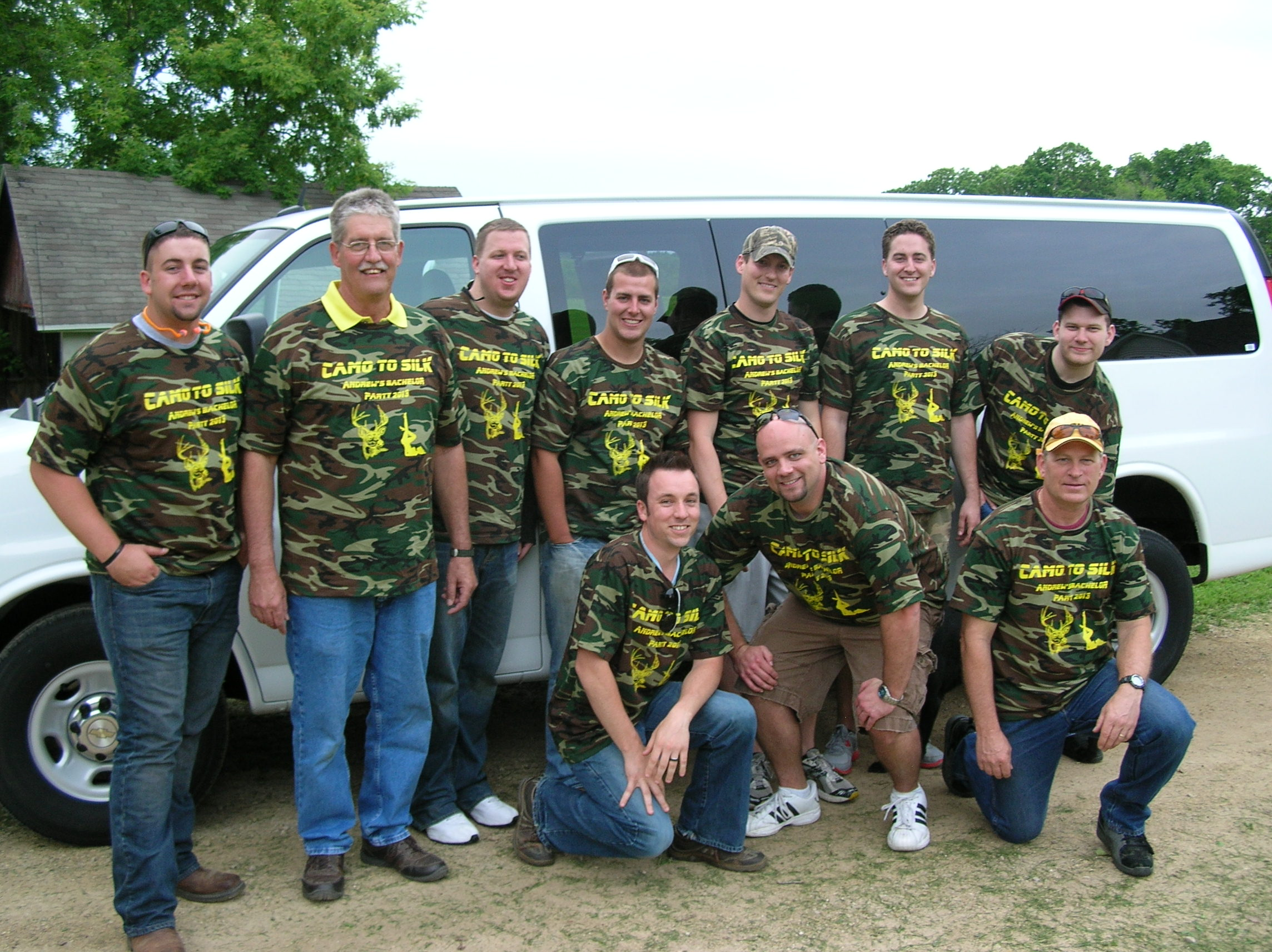 Custom T Shirts For Andrews Bachelor Party 2013 Camo To Silk