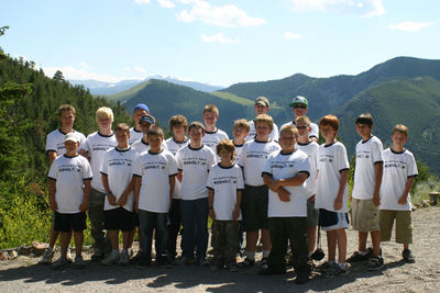 Troop 200 At Lewis & Clark Caverns State Park, Mt T-Shirt Photo