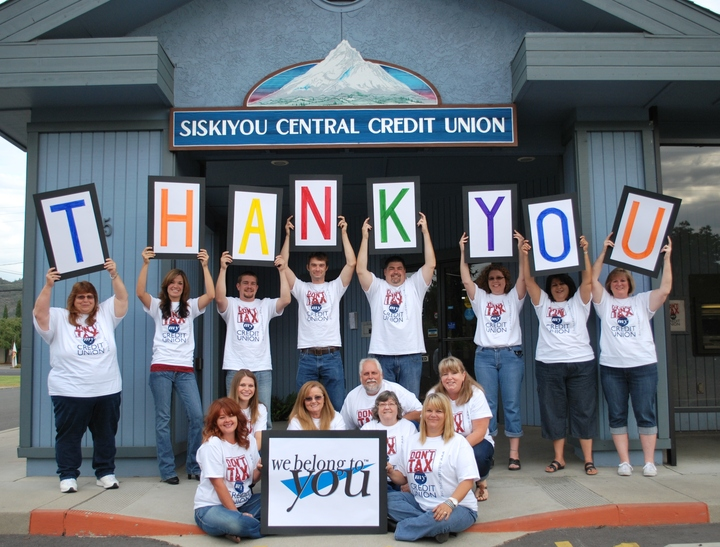 "Voted ""Best Financial Institution In Siskiyou County"" T-Shirt Photo"