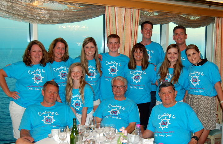 Nick's 80th Birthday Cruise T-Shirt Photo
