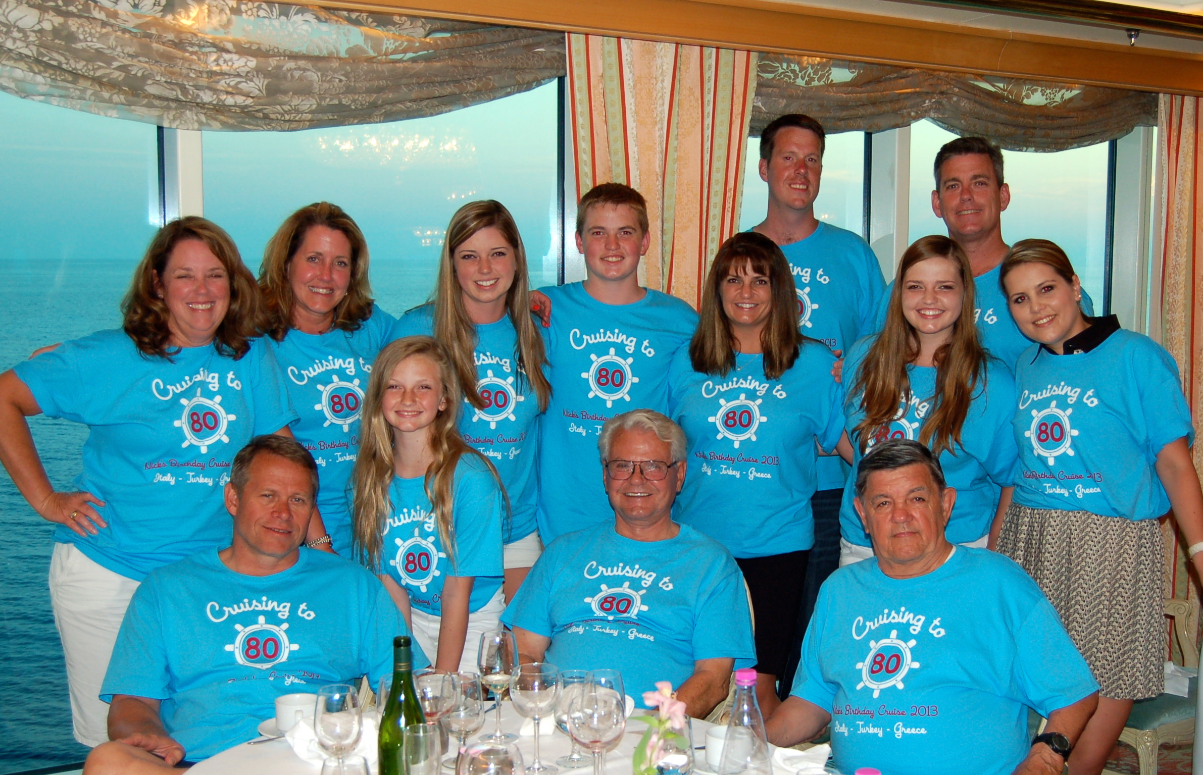 Custom t shirts for nick 39 s 80th birthday cruise shirt for Www custom t shirts