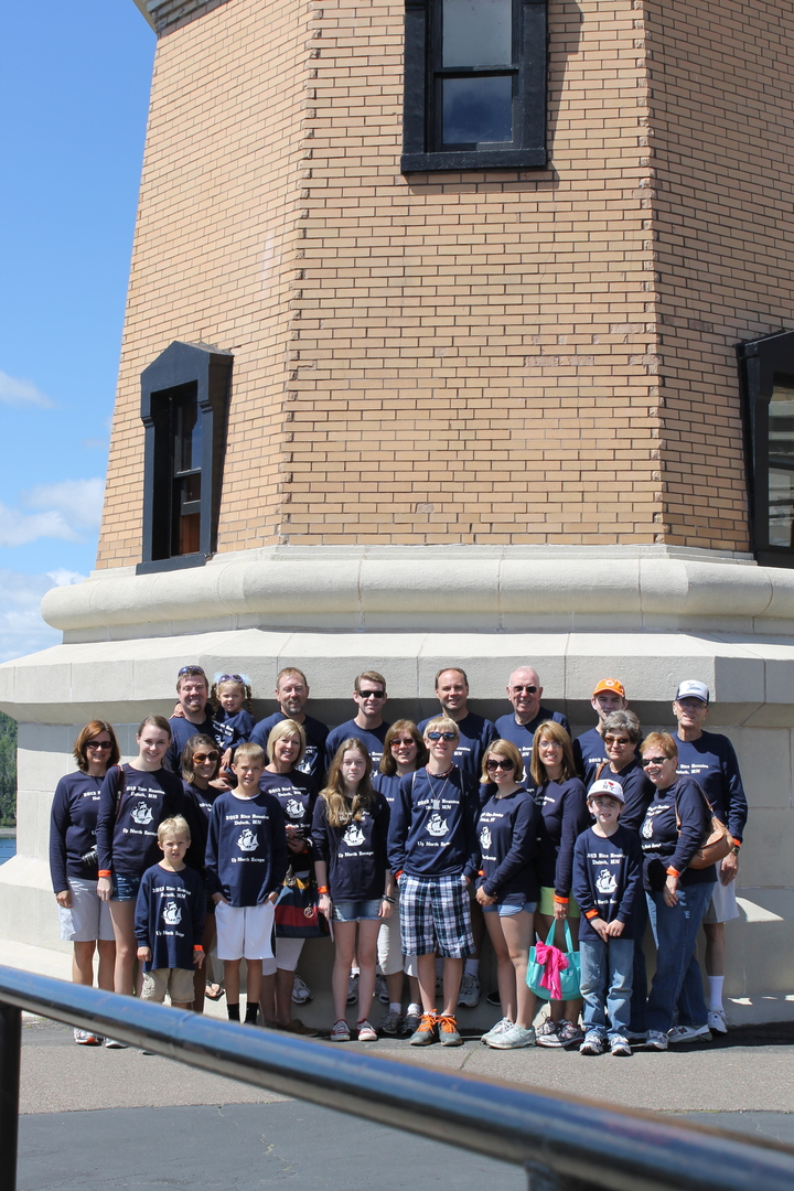 The Rice Clan At Split Rock Lighthouse T-Shirt Photo