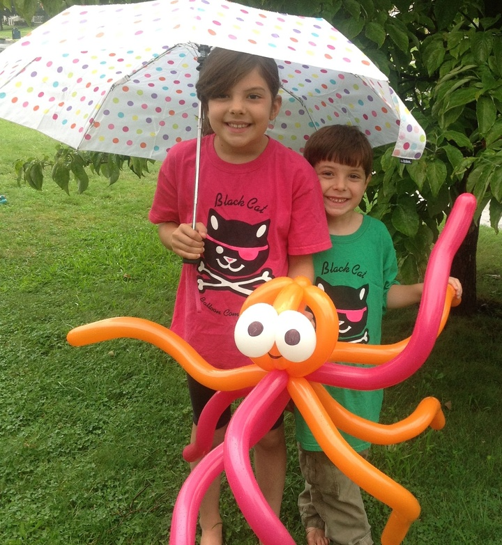 In The Rain With An Octopus T-Shirt Photo