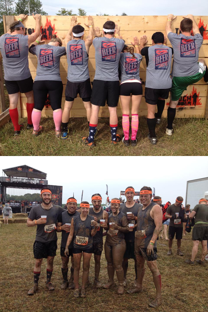 Liquid Courage At The Tough Mudder T-Shirt Photo