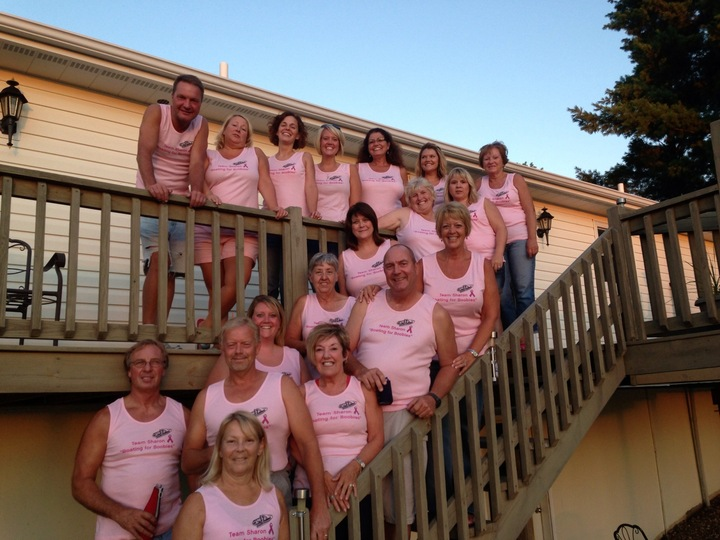 "Team Sharon   ""Boating For Boobies"" T-Shirt Photo"
