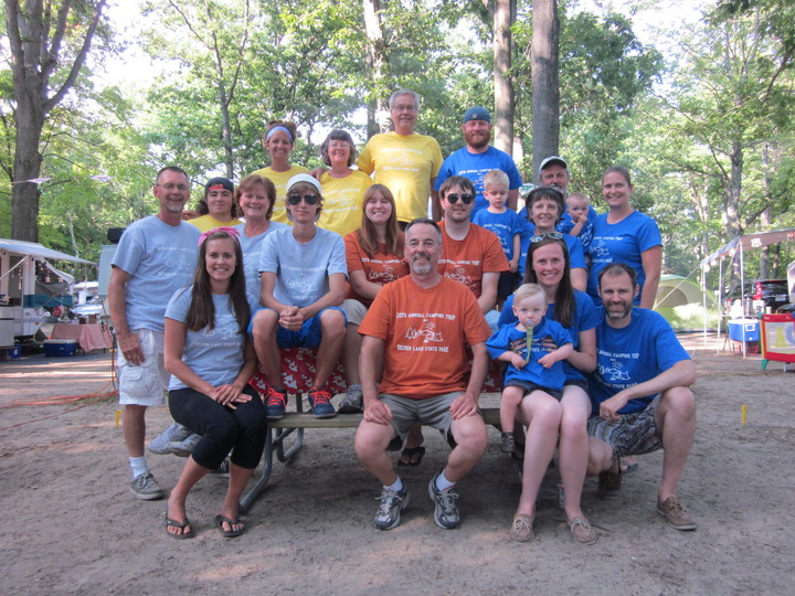 10th Annual Camping Trip @ Silver Lake State Park T-Shirt Photo