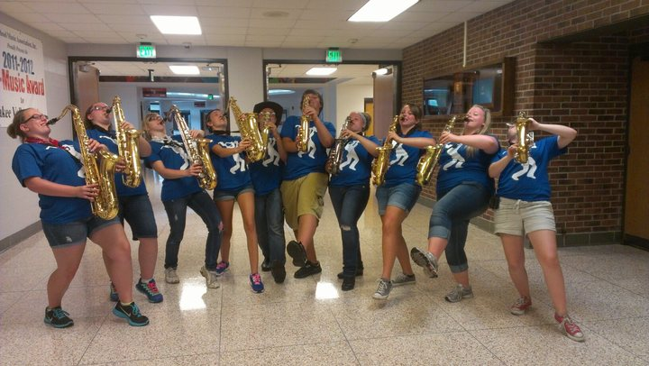 Marching Saxophones T-Shirt Photo