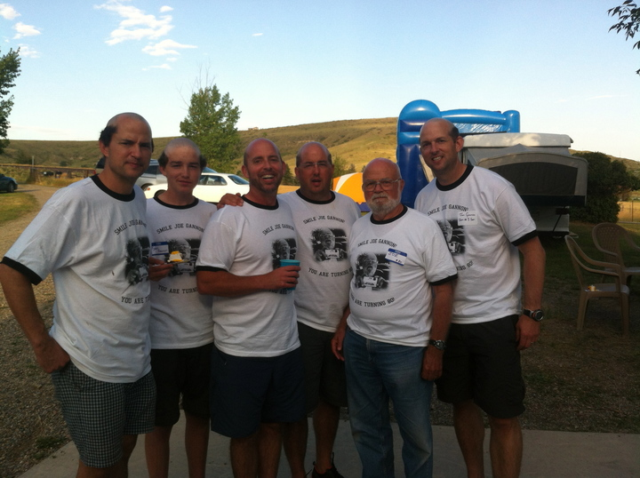 Celebrating Dad With T Shirts And Matching Haircuts T-Shirt Photo