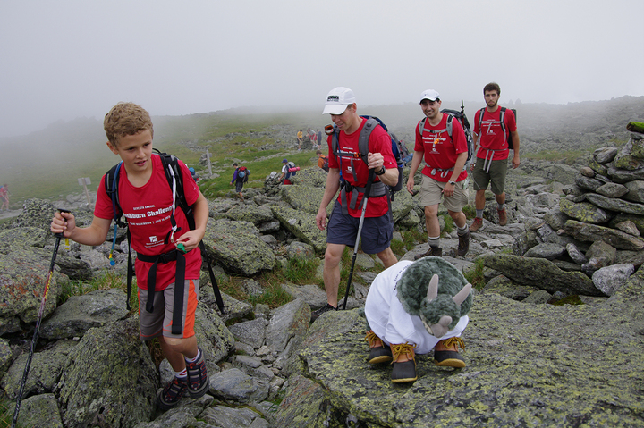 Scaling Mt. Washington In Style T-Shirt Photo