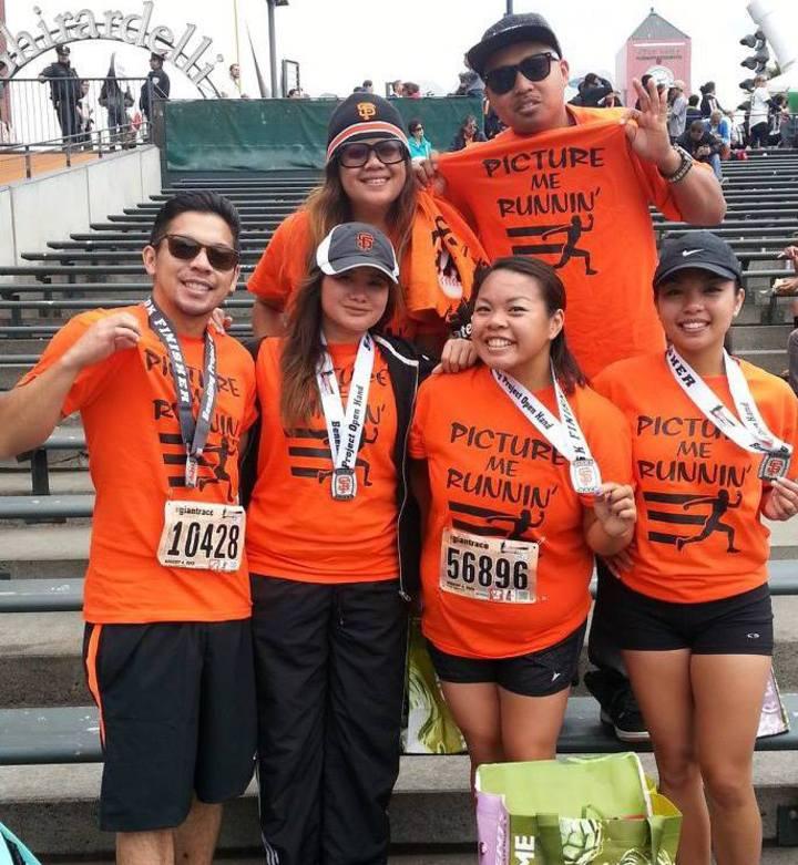 Team Picture Me Runnin' T-Shirt Photo